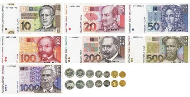 Billet monnaie croatie croate kuna